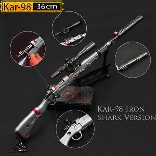 Mô Hình PUBG Kar98 IRron Shark 34cm , Kar98 Shark Bite 34cm có thể tháo rời Tặng Giá trưng bày