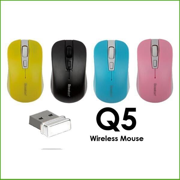 (Rẻ Nhất)  Thiết Bị Chuột không dây wireless Bosston Q5 2.4Ghz