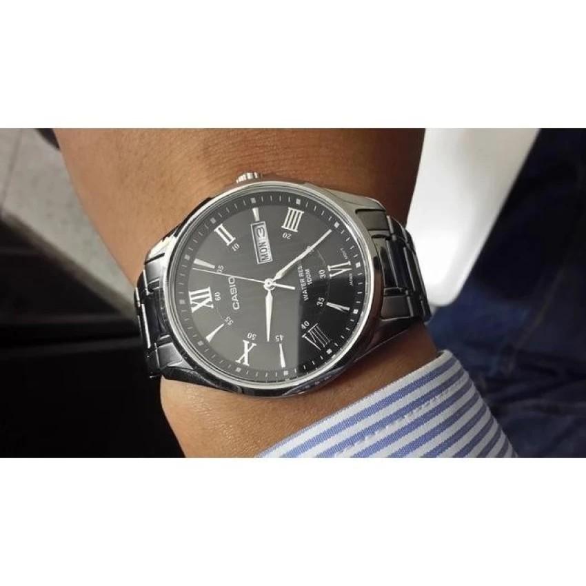Đồng hồ nam dây kim loại Casio chính hãng Anh Khuê MTP-1384D-1AVDF
