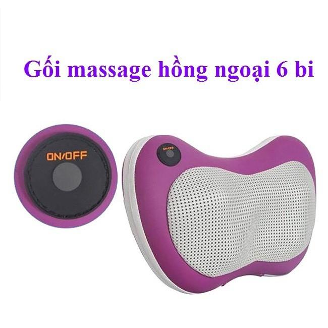 Gối massage hồng ngoại 6 Bi_ an toàn