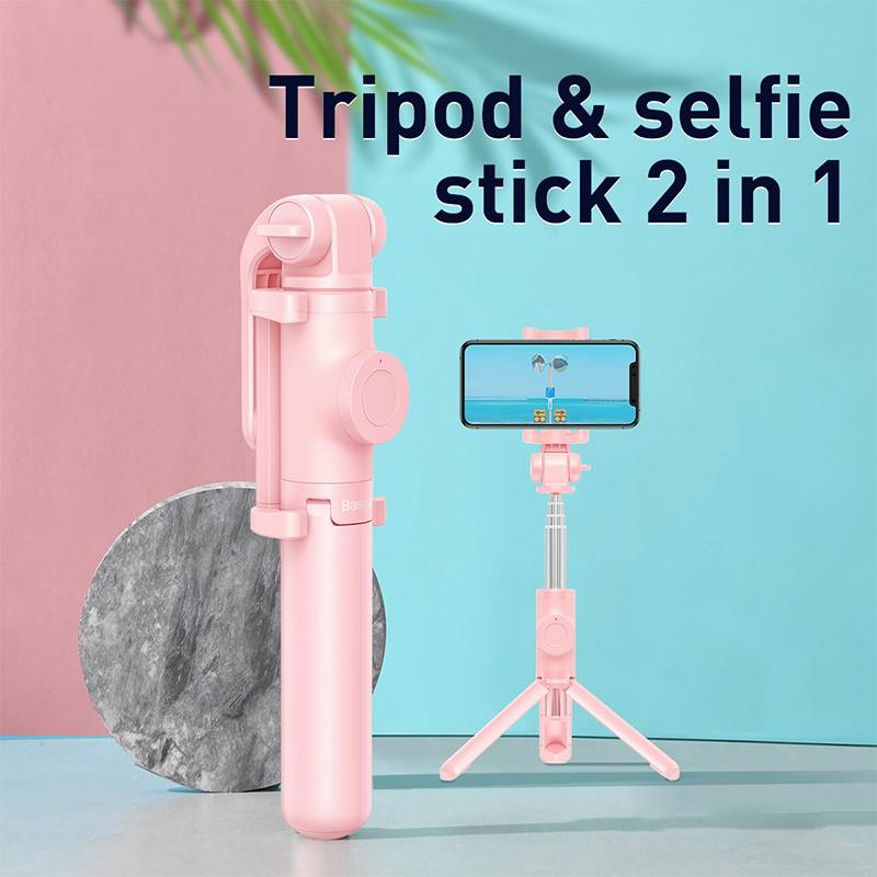 Gậy Selfie Baseus 3 Chân Đứng Điều Khiển Bluetooth Không Dây Có Thể Gấp Lại Và Kéo Dài