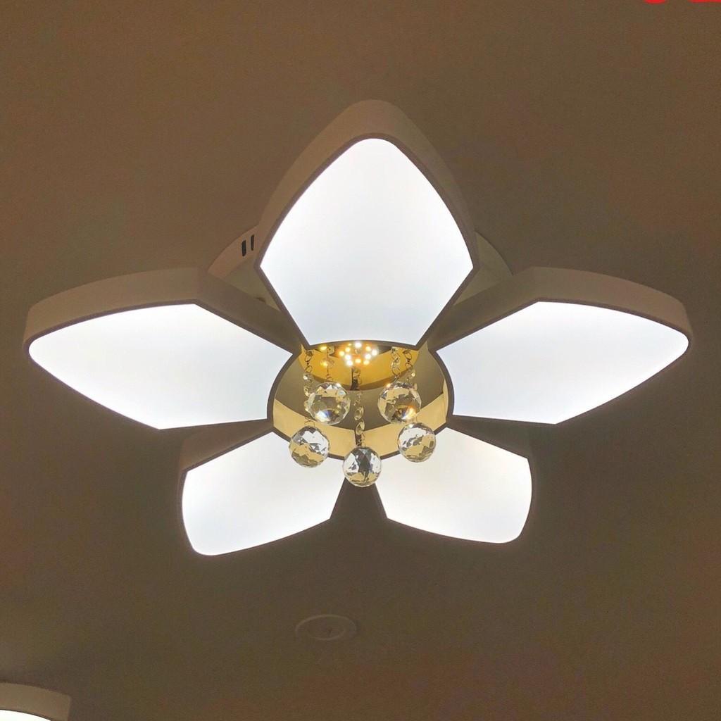 Đèn trần led mâm MONSKY OYHO 3 chế độ ánh sáng cao cấp trang trí phòng khách, phòng ngủ - có điều khiển từ xa tiện dụng