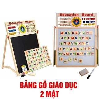 Bảng ghép gỗ nam châm chữ, số 2 mặt Education Board
