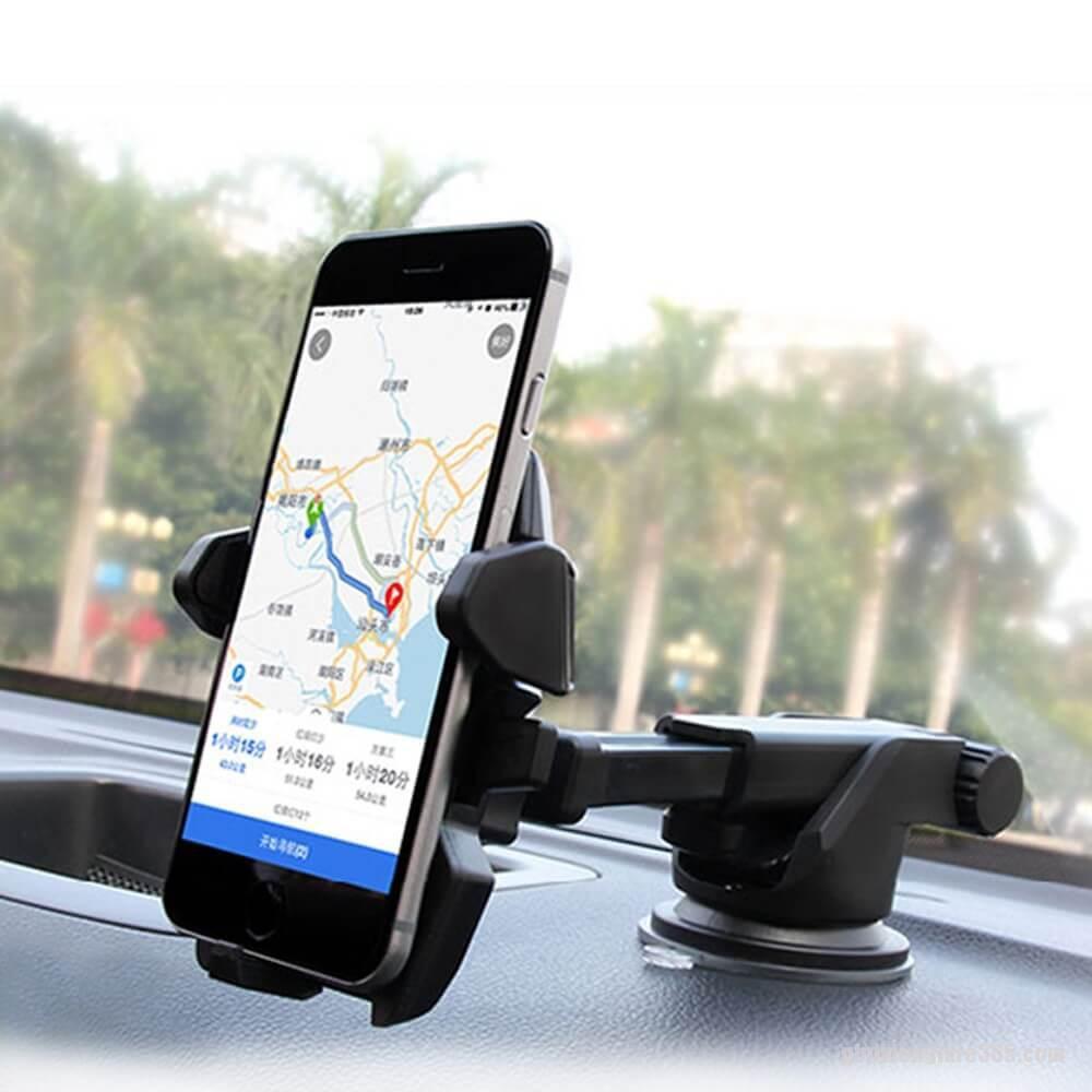 Giá đỡ điện thoại điều chỉnh dài ngắn, gắn chặt trên ô tô, bàn làm