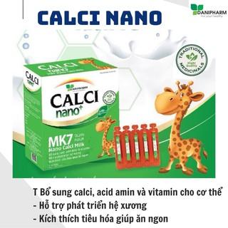 Canxi milk nano mk7 DANIPHARM, canxi cho bé ăn ngon ngủ tốt