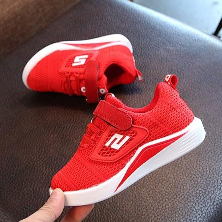 Giày thể thao siêu nhẹ cho bé - Size 21 đến 31- Chữ S - đỏ