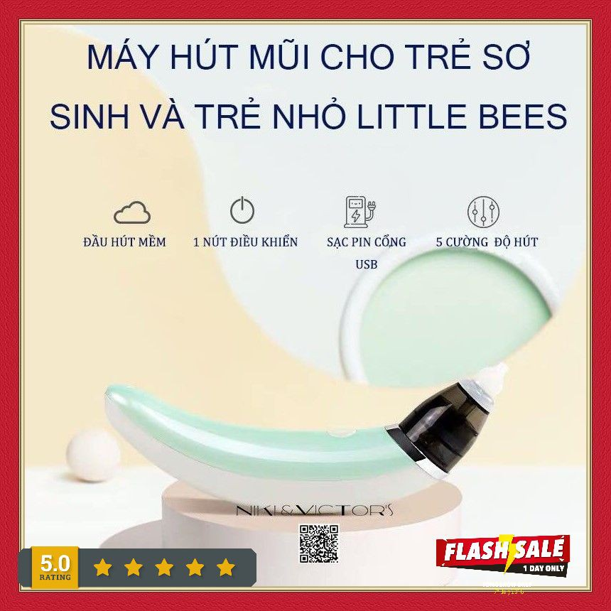 Máy Hút Mũi Mini Đầu Mềm Cho Bé Bằng Sạc USB Little