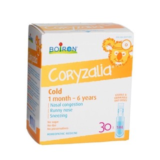 Muối uống vi lượng đồng căn Boiron Coryzalia/Coldcalm, Canada/USA (15/30 tép) cho bé từ 1 tháng – 11 tuổi