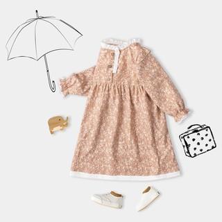 Váy Cho Bé Hoạ Tiết 2 Màu Dáng Xoè Xinh Xắn BELLOLAND