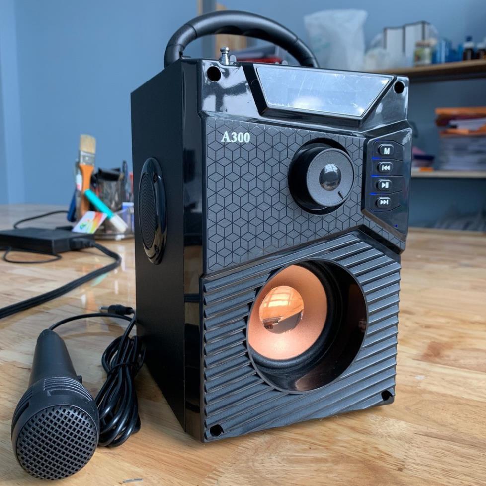 [ Xả kho tết] Loa A300 Hozito  Version 2020 ⚡ TẶNG MIC HÁT⚡ Loa Karaoke Bluetooth Cầm Tay