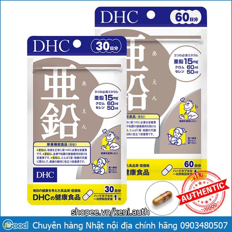 [Mã COS1111 giảm 8% đơn 250K] Viên uống DHC kẽm Zinc Nhật Bản