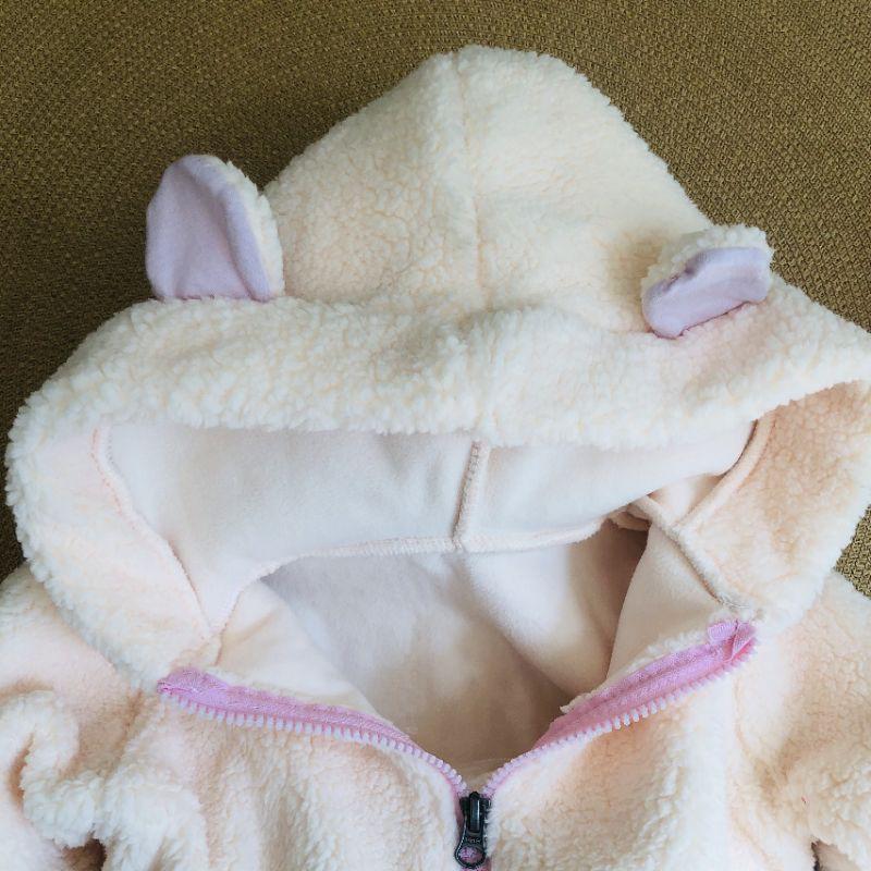 Áo lông cho bé có mũ siêu ấm tai gấu sành điệu cho bé trai và bé gái