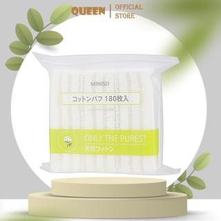 Bông tẩy trang Miniso Nhật Bản dạng túi 180 miếng thumbnail