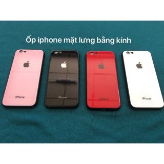 Ốp iphone 6,6plus,7,7plus,8,8plus,X.Xs max,viền cao su mặt lưng bằng kính