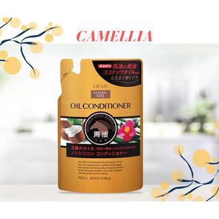 Dầu xả chiết xuất dầu ngựa, dầu dừa và dầu hoa trà Deve Natural Oil Conditioner 400ml (Dạng túi)