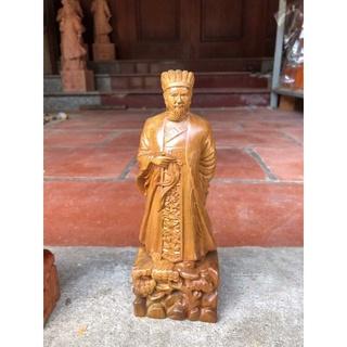 Tượng khổng minh gỗ hương bày bàn làm việc