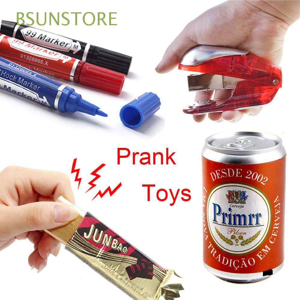 Novelty Funny Gum Gripper Flashlight Electric Shock Toy