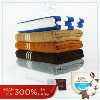 Khăn tắm 70x140cm VIECOTTON Ver2 100% cotton siêu thấm hút – Cam kết giao đúng màu