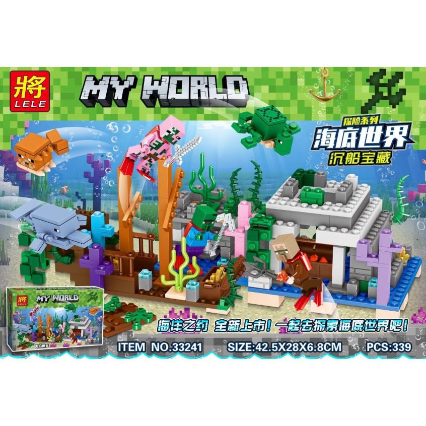 Lego lắp ráp xếp hình sáng tạo Minecraft kho báu đáy biển 339 khối LELE33241 - 15066390 , 2194328386 , 322_2194328386 , 300000 , Lego-lap-rap-xep-hinh-sang-tao-Minecraft-kho-bau-day-bien-339-khoi-LELE33241-322_2194328386 , shopee.vn , Lego lắp ráp xếp hình sáng tạo Minecraft kho báu đáy biển 339 khối LELE33241