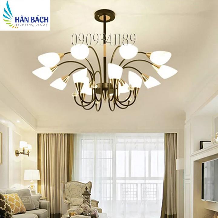 Đèn chùm 15 tay - đèn trần hiện đại dùng cho trang trí nhà cửa, quán cafe