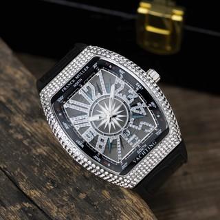 (Bảo hành 12 tháng) Đồng hồ nam Franck muller thể thao đính đá cao cấp tặng hộp và vòng tay DH402