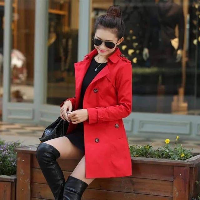 Áo khoác dạ mầu đỏ đẹp chất