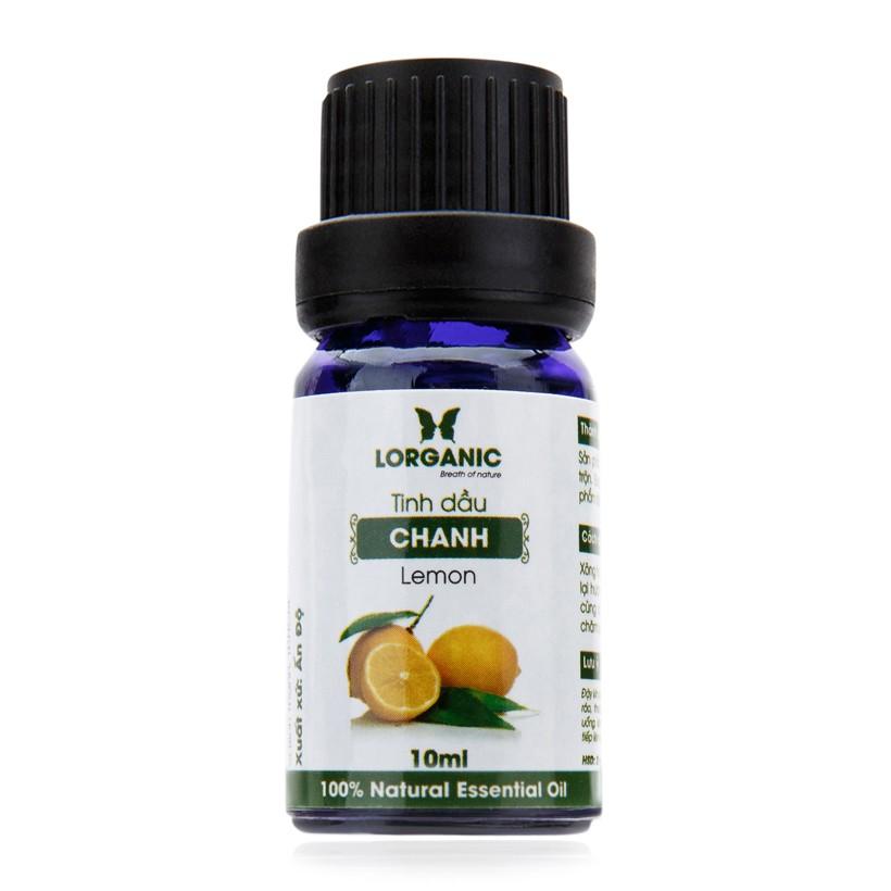Tinh dầu chanh nguyên chất Lorganic 100% Natural Essential Oil 10ml