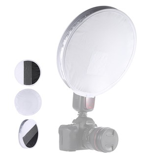 30cm12in White Balance 18% Gray Card Board Round Flash Diffuser Soft Light Cover