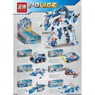 Bộ Lego robot cảnh sát 6in1