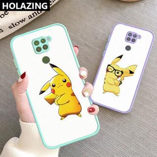 for Xiaomi Redmi Note 10 Pro 9S Remdmi 9A 9C POCO X3 NFC M3 Cartoon Pikachu Casing Accurate Protective Hard Scrub Cover Phone Case vỏ điện thoại