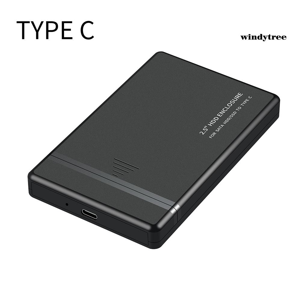 Hộp Đựng Ổ Cứng Ngoài 2.5 Inch Usb 2.0 / 3.0 / 3.1 Type-C Ốp