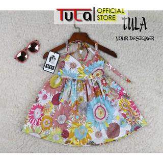 Váy Đầm Cho Bé Gái 2 Dây Họa Tiết Hoa Hướng Dương Nhiều Màu Cực Xinh Vải Thô Hàn Quốc