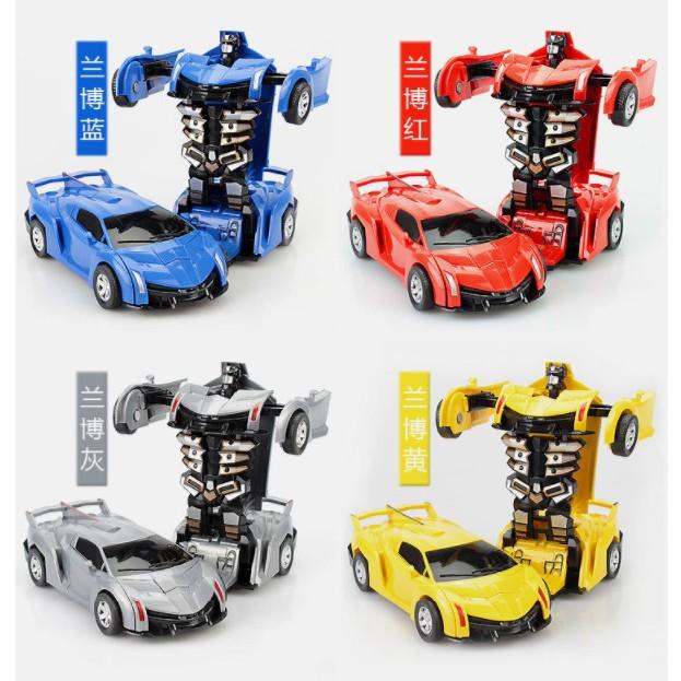 Đồ chơi ô tô biến hình thành Robot Ferari