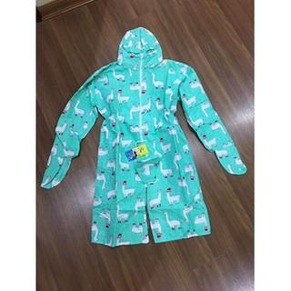 áo váy chống nắng toàn thân vải thô 2 lớp cho bé gái kèm khẩu trang
