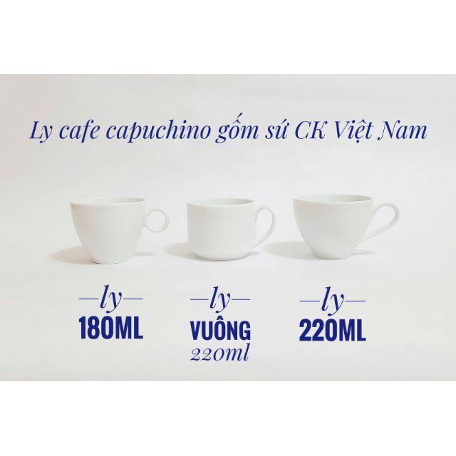 Tách pha cafe,cafe capuchino hàng CK cao cấp 180ml, 220ml