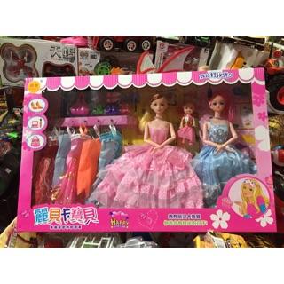 Bộ đồ chơi 3 chị em búp bê có khớp 250.000₫