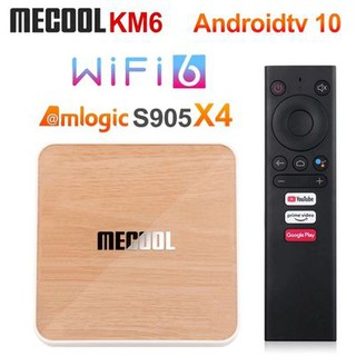 Android Box Mecool KM6 DELUXE, Amlogic S905X4, DDR4 4GB, Rom 64GB, Android TV 10 chính chủ Google, remote voice theo box