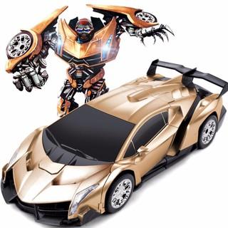 [ Đồ chơi trẻ em] Ô tô biến hình robot Transformers điều khiển từ xa
