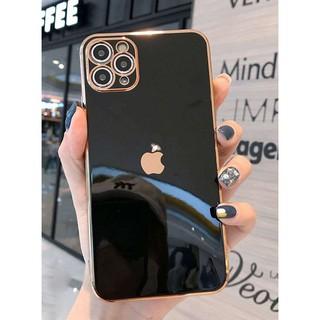 Màu đen,vàng hồng,dương, trắng ốp dẻo viền vuông giả IP 12 bảo vệ camera thumbnail