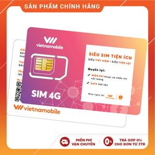Siêu Sim Tiện Ích Miễn phí Data Gọi & SMS nội mạng - Duy trì chỉ 20k/tháng - Vietnamobile