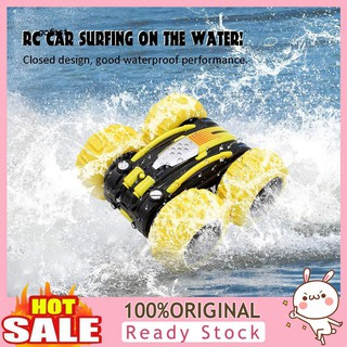 Mod-Two-sided 360 Degree Rotation Amphibious 4 Wheels Remote Control Car Kids Toy