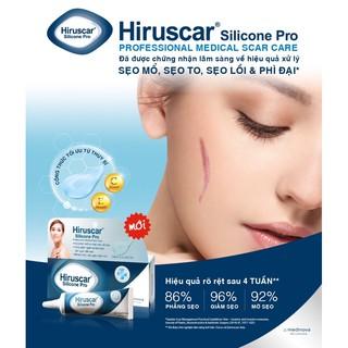 Hiruscar Silicone Pro - gel bôi hỗ trợ sẹo lồi, sẹo phì đại thumbnail