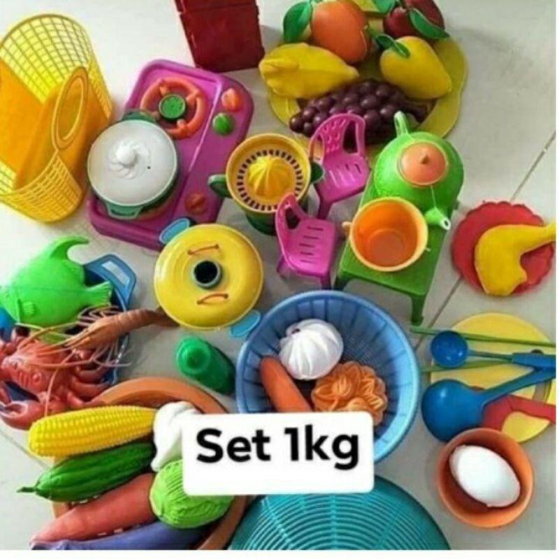 Bộ đồ chơi cân giá rẻ (Đồ nhà bếp, hoa quả các loại)