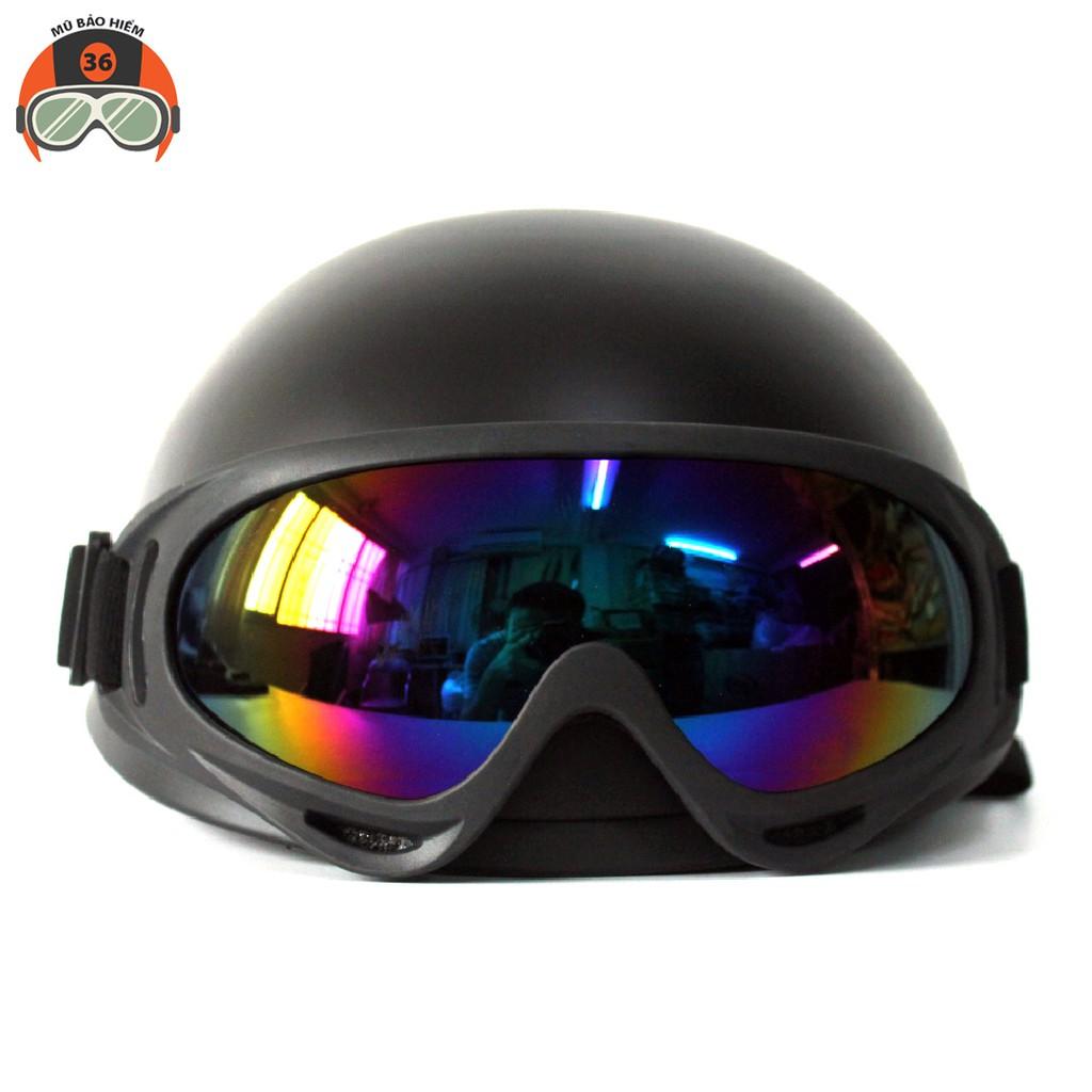 Mũ bảo hiểm nửa đầu NTMAX kèm kính UV400