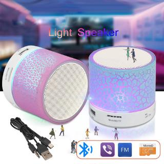 Colorful LED Light Mini Portable Bluetooth Speaker,Wireless Speaker,Support USB/ AUX/ TF Card/ FM