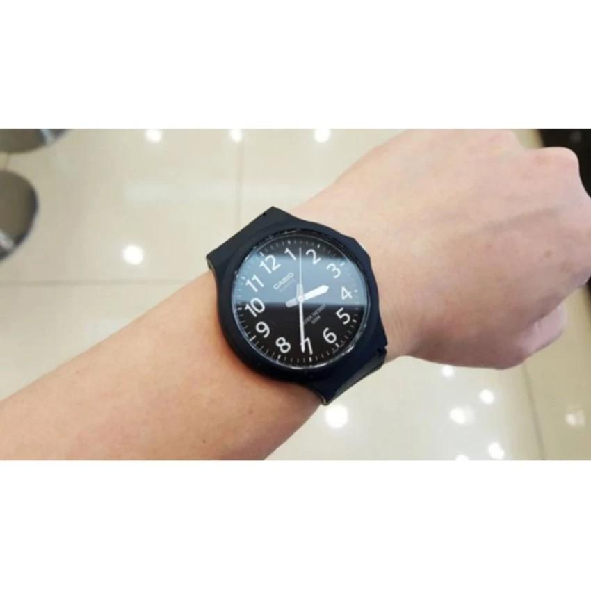 Đồng hồ nam dây nhựa Casio chính hãng Anh Khuê MW-240-1BVDF