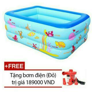 Bể bơi 3 Tầng cao cấp size 130 x 100 x 55