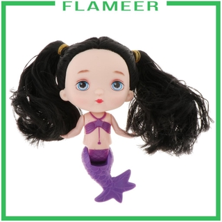 [FLAMEER] 15cm Adorable Mermaid Princess Doll Pools Bathtub Floats Toy for Kids Gift