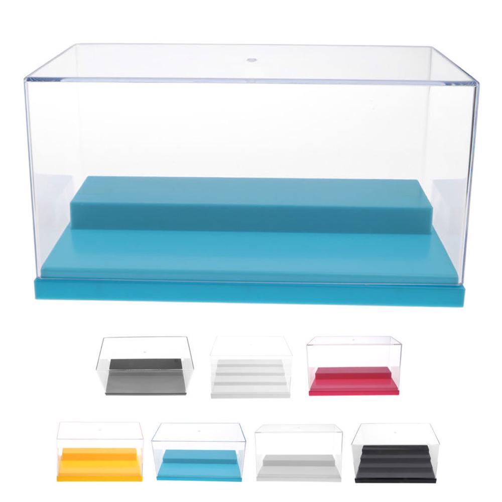 BLM❤Clear Acrylic Display Case Perspex Box Plastic Base Dustproof UV For Model
