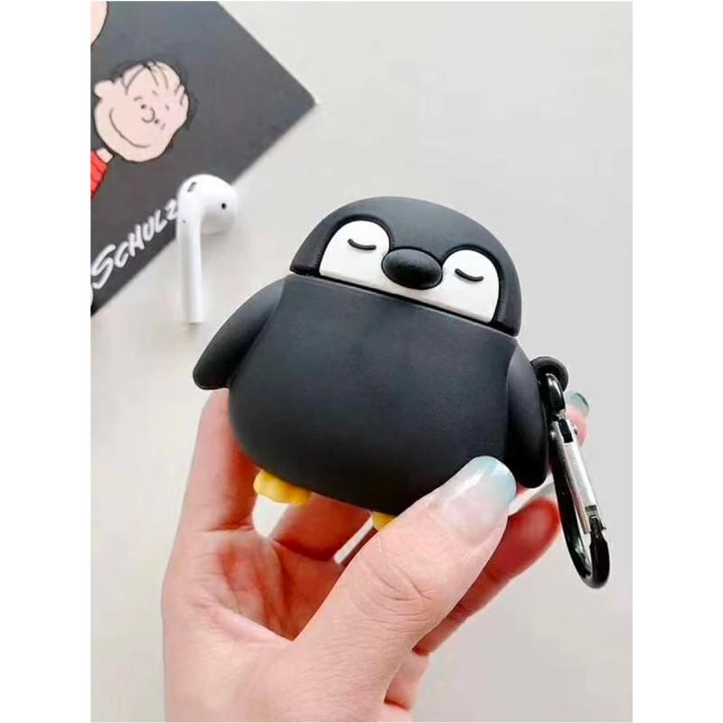 Case Airpods hình chim cánh cụt, vỏ ốp đựng bảo vệ tai nghe bluetooth Airpod 1 2 Pro chất liệu silicon dẻo